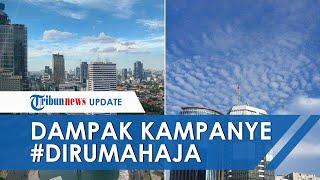 Hal Positif dari #DirumahAja, Langit Jakarta Bersih dan Biru Cerah