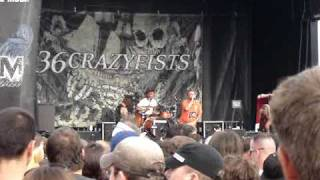 36 Crazy Fists We Gave It Hell Mayhem tour 2008