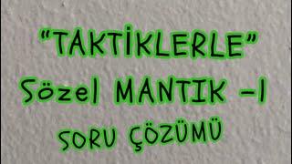 SÖZEL MANTIK -1
