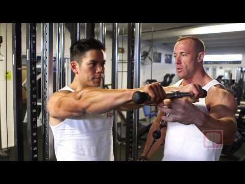 Cable Front Lateral Raise