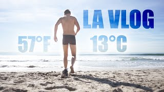FIRST TIME in the PACIFIC OCEAN (COLD)   -los angeles-