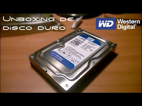 Unboxing disco duro Western Digital Blue 1Tb 7200rpm en español