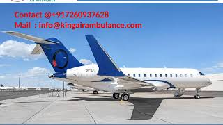 Life Support Emergency King Air Ambulance Service in Lucknow and Gorakhpur