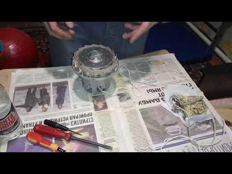 Разборка двигателя пылесоса philips