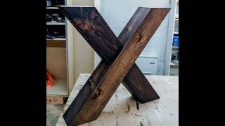X Shaped Farm Table Legs