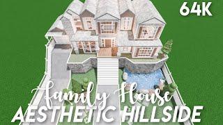 Aesthetic Hillside Family House - Bloxburg Speedbuild