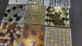 Hand Made Glass Mosaic Tiles Design With Price 2020