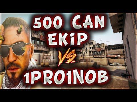 500 CAN EKİP VS 1PRO1NOOB KÖTÜLER BUNLAR EFSANE !! (CS:GO)