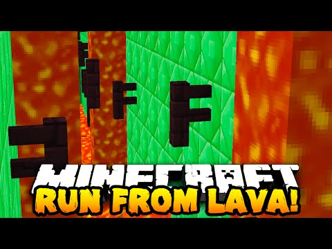 Minecraft RACE AGAINST LAVA PARKOUR! (ESCAPE DEATH!) #2 w/PrestonPlayz & The Pack!