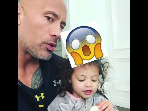 (the rock)Dwayne Johnson talking with his daughter (видео)