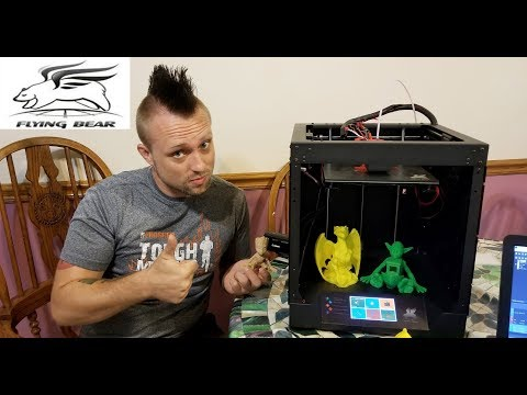 Flying Bear Ghost 3D Printer Unboxing and Review. Wifi Wireless 3D printer.