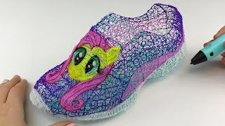 Drawing Fluttershy Shoes with 3D PEN