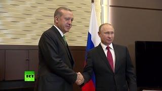 «Не хотят твои работать»: Путин пошутил над турецкой делегацией