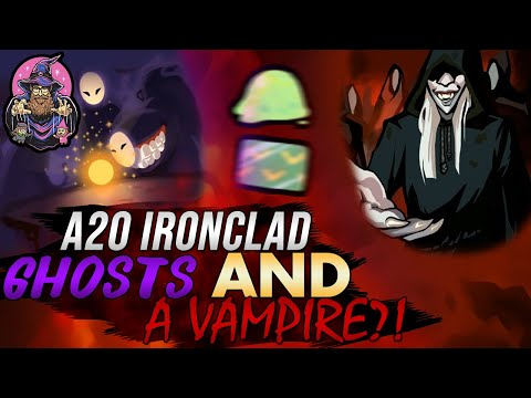 A GHOST AND A VAMPIRE?! | Ascension 20 Ironclad Run | Slay the Spire