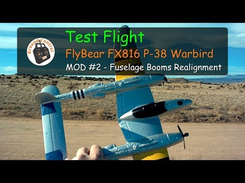 FlyBear P-38 RTF Bomber from Banggood - MOD#2 Test Flight