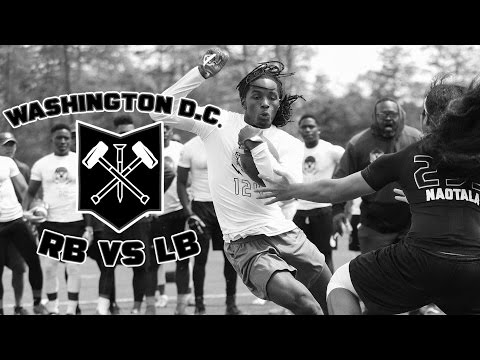 Nike Football's The Opening Washington D.C. 2017 | RB vs LB 1 on 1s