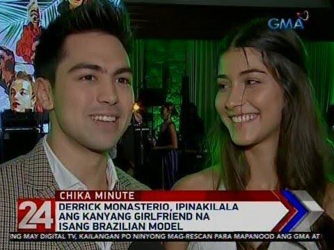 [GMA]  24 Oras: Derrick Monasterio, ipinakilala ang kanyang girlfriend na isang Brazilian model