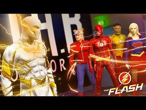 GODSPEED VS TEAM FLASH - Barry Meets Kara On Earth 38 ! GodSpeed VS Supergirl (Ultimate Flash)