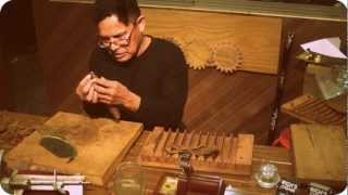 Cuban master shows how to roll a cigar Old World style (pre-industrial revolution)