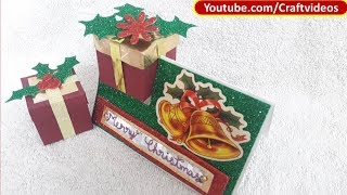 Gift Box Card making tutorial for Christmas | Gift Box in a card
