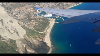 AMAZING! United A320 Takeoff over ocean from Cabo San Lucas SJD