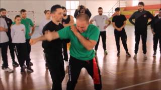 Martial arts fighting techniques showed by Pietro Di Rauso at his stage
