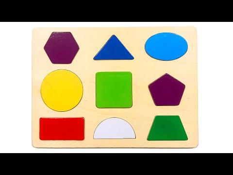 Учим геометрические фигуры, цифры и буквы | Сборник развивающих видео для малышей