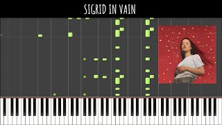 Sigrid   In Vain (Piano Tutorial & Cover) Sachin Sen