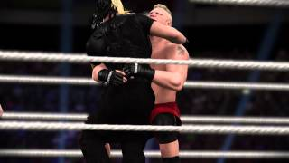 WWE 2K15 Battleground Simulation - Seth Rollins vs. Brock Lesnar