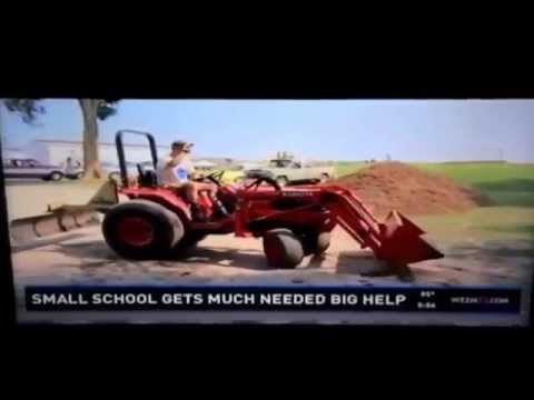 Inspirational: Lending a helping hand for the kids.