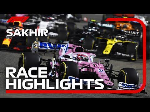 F1 第16戦サクヒールGP 決勝レースの様子をまとめたハイライト動画