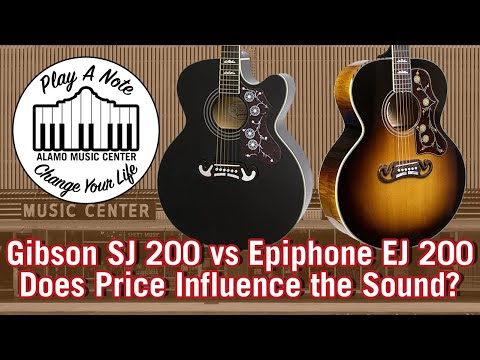 Gibson SJ 200 vs Epiphone EJ 200 - Does $5249 Sound Better Than $459? - Acoustic Guitar Comparison