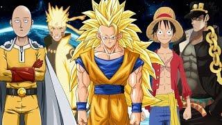 Goku Vs SaitamaNarutoLuffy And Jotaro
