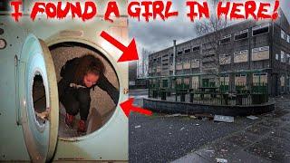 I FOUND A GIRL IN A HAUNTED ABANDONED COLLEGE BASEMENT!   MOE SARGI