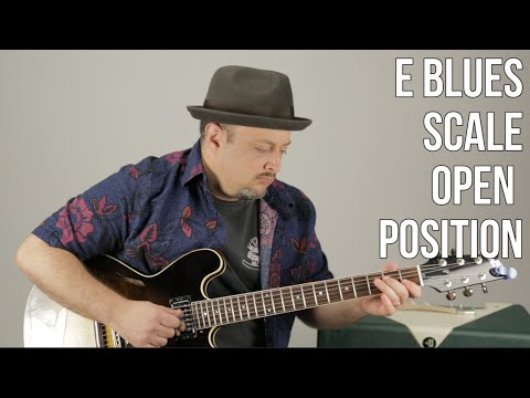 Blues Guitar Lessons: E Blues Scale - Beginner Blues Lead Guitar - Blues Soloing