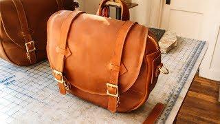 Making A Leather Shoulder Bag - No.64   Leather Satchel Shoulder Bag