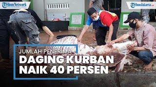 Penerima Daging Kurban di Masjid Jami Al-Akhyar Pasar Rebo Melonjak 40 Persen