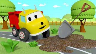 Damperli Kamyon Ethan ile yalın renkler - Çamurlu yollar 👶 🚄 Çocuklar için eğitici animasyonlar
