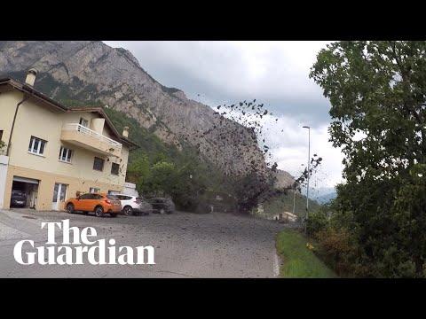 Massive Mudslide Slams Into Swiss Village