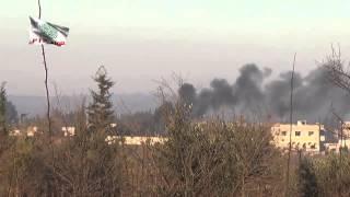 preview picture of video 'اشتعال النيران وتصاعد الدخان داخل معسكر ملوك جراء القصف بالمدافع من عيار 120 مم'