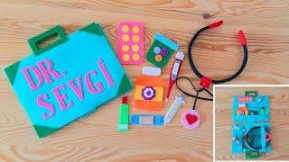 Filz Arzt Set mit Tasche - Filzspielzeug