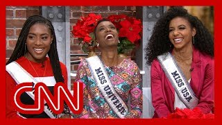 Miss America, Miss Universe, and Miss USA winners talk to CNN after making pageant history