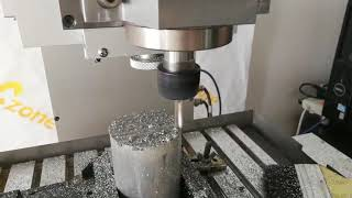 0.4mm Deep Cutting Aluminum Test By China CNC Zone Desktop 5 Axis CNC Router