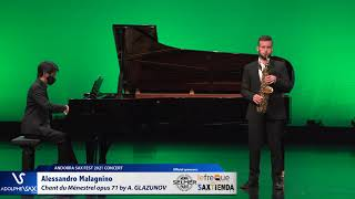 Alessandro Malagnino plays Chant du Ménestrel opus 71 by Alexander GLAZUNOV