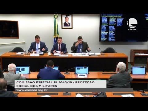 PL 1645/19 - Proteção Social dos Militares - Eleição, plano de trabalho e requerimentos - 21/08/19