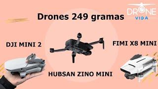 Drones 249 gramas - Hubsan Zino Mini - Dji Mini 2 - Fimi x8 Mini