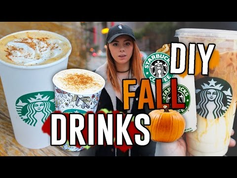 Video DIY Starbucks Drink Recipes for the Fall!! Pumpkin Spice Frap, Macchiato, & MORE // Jill Cimorelli