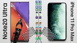 Samsung Galaxy Note20 Ultra vs Apple iPhone 11 Pro Max Speed Test