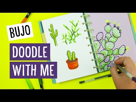 Bullet Journal Doodle with Me: Cactus | Sea Lemon