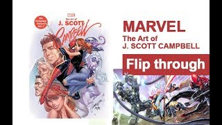 Marvel Monograph: The Art Of J. Scott Campbell - The Complete Covers Vol. 1 Art Book Flip Through